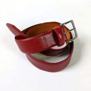 Levi's Rust Red Leather Belt Size 30